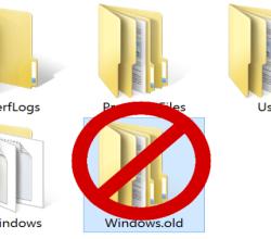 Удаление папки Windows old в Windows 10